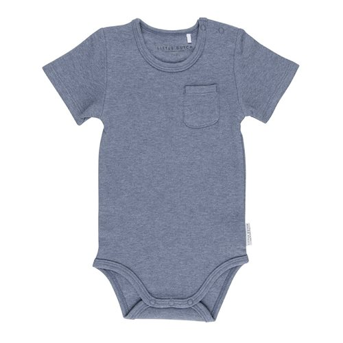 Picture of Baby bodysuit short sleeves 62/68 - Blue Melange