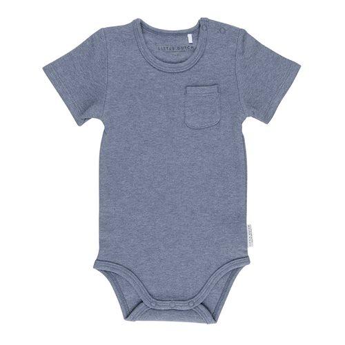 Body manches courtes 74/80 - Blue Melange
