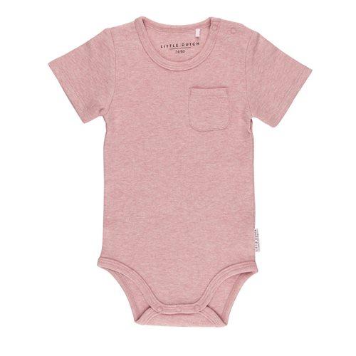 Body kurzen Ärmeln 74/80 - Pink Melange