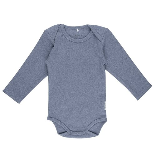 Picture of Baby bodysuit long sleeves 62/68 - Blue Melange
