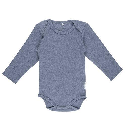 Body manches longues 62/68 - Blue Melange