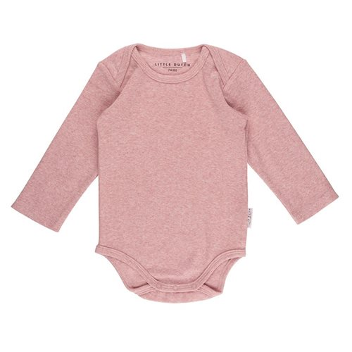 Picture of Baby bodysuit 50/56 long sleeves - Pink Melange