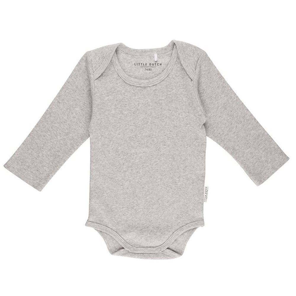 Picture of Baby bodysuit long sleeves 50/56 - Grey Melange