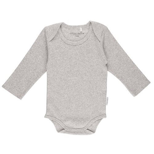 Picture of Baby bodysuit long sleeves 62/68 - Grey Melange