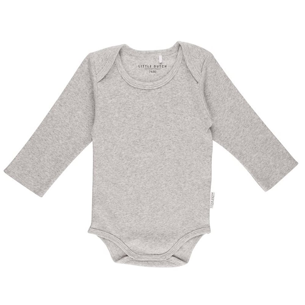 Picture of Baby bodysuit long sleeves 62/68 - Grey Melange