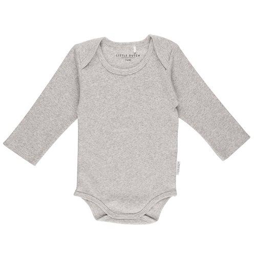 Body langen Ärmeln 62/68 - Grey Melange
