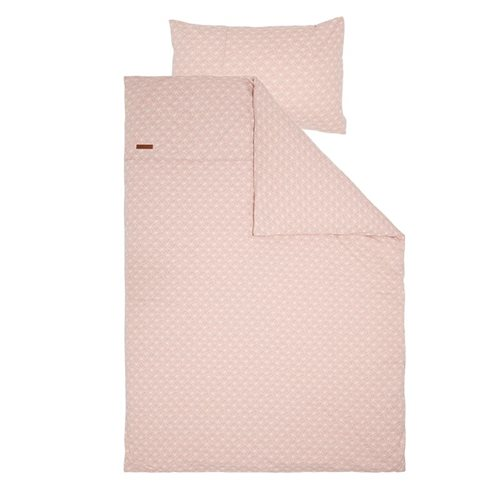 Picture of Cot blanket cover Lily Leaves Pink