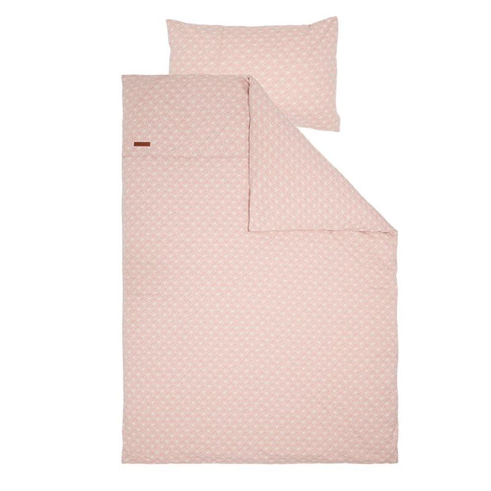 Housse de couette lit bébé Lily Leaves Pink