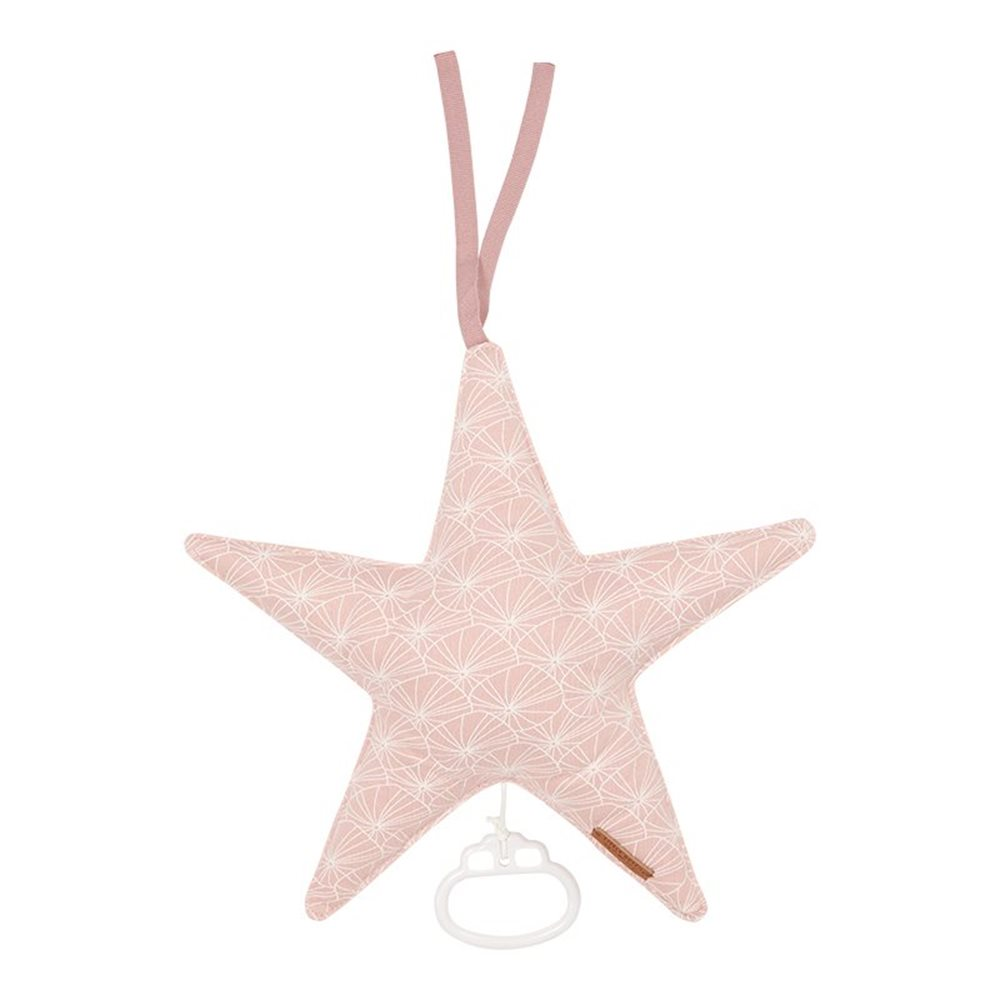 Coussin musical étoile Lily Leaves Pink