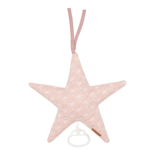 Spieluhr Stern Lily Leaves Pink