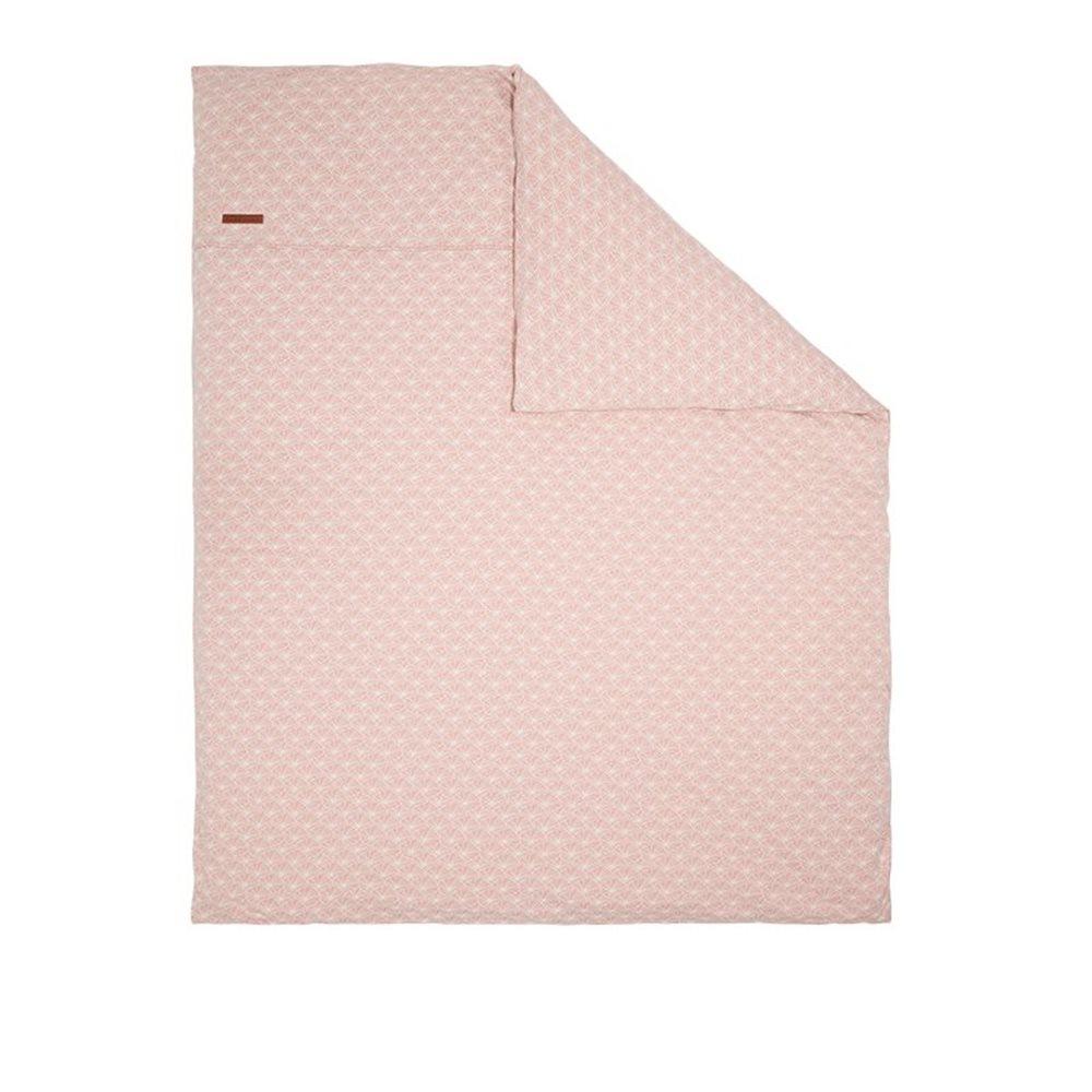 Bezug für Wiegedecke Lily Leaves Pink