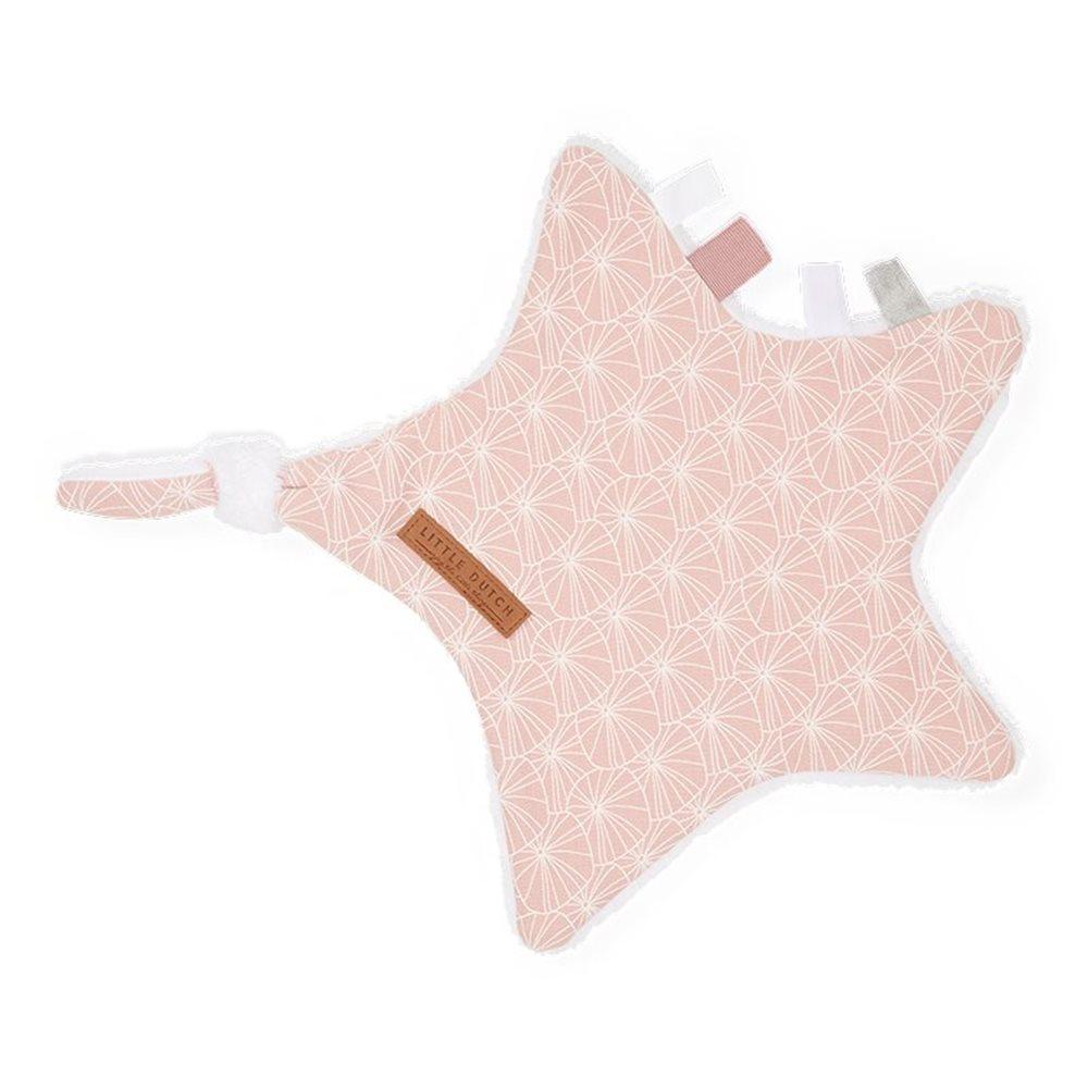 Doudou étoile Lily Leaves Pink