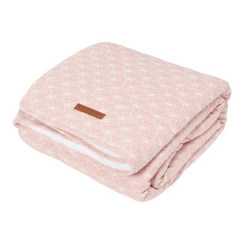 Couverture de lit bébé Lily Leaves Pink
