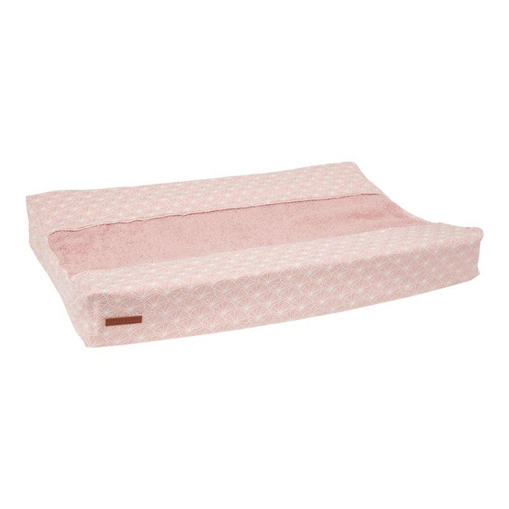 Housse pour matelas à langer Lily Leaves Pink