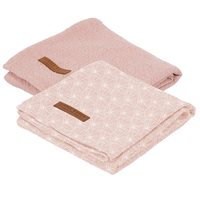 Picture of Muslin cloths 70 x 70 Lily Leaves Pink/Pure Pink