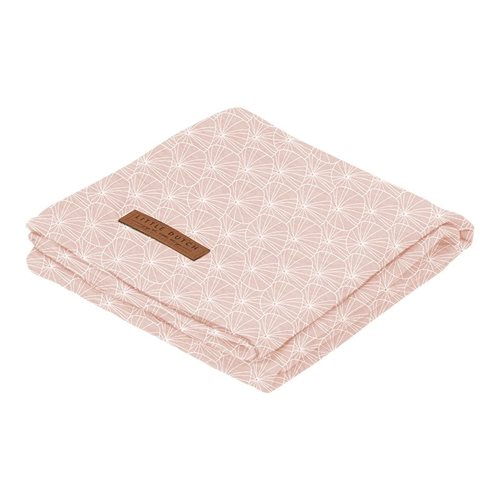 Musselintuch Swaddle 120 x 120 Lily Leaves Pink