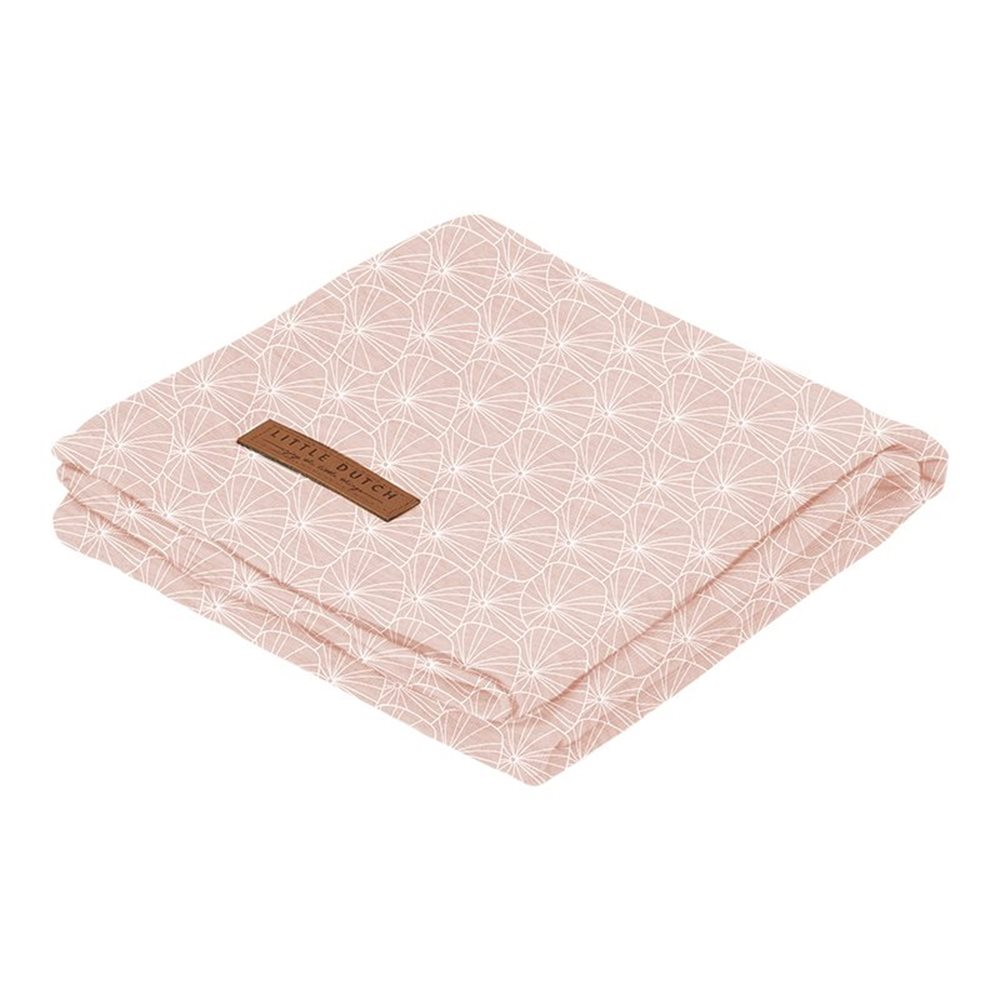 Afbeelding van Swaddle doek 120 x 120 Lily Leaves Pink