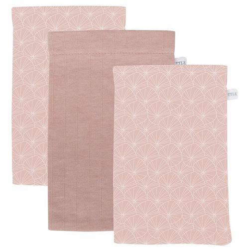 Afbeelding van Washandjes set Lily Leaves Pink