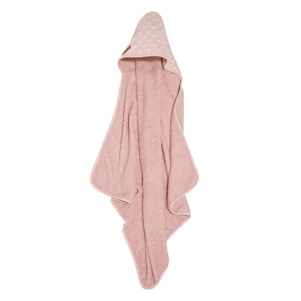 Picture of Hooded towel Lily Leaves Pink