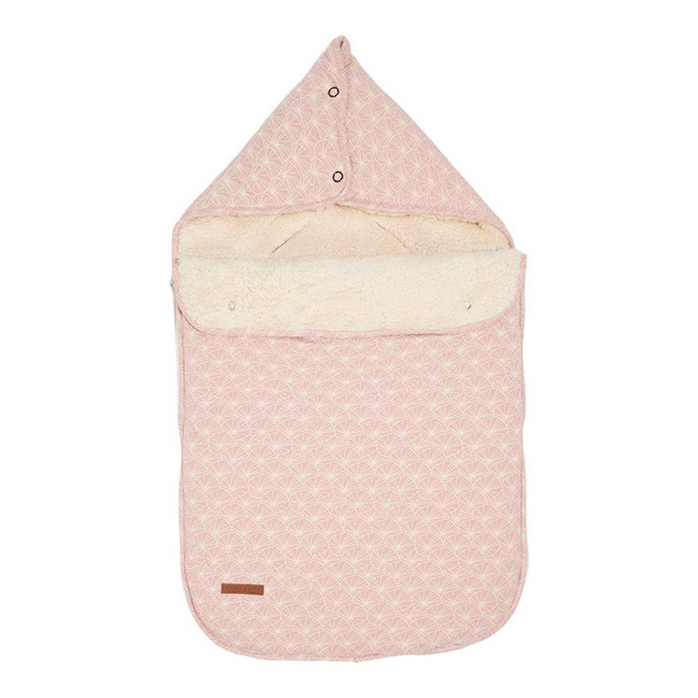 Babyschalen-Fußsack 0+ Lily Leaves Pink