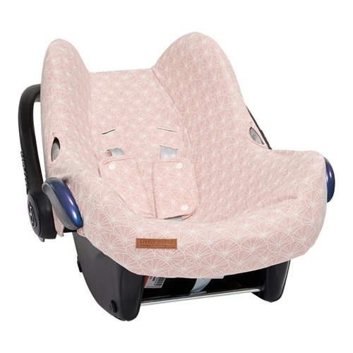 Afbeelding van Hoes autostoeltje 0+ Lily Leaves Pink