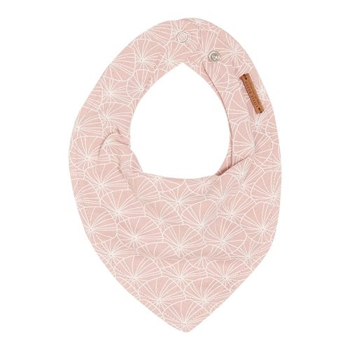 Picture of Bandana bib Lily Leaves Pink