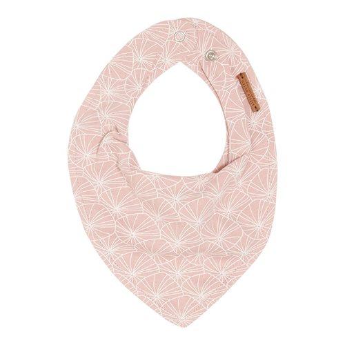 Bavoir bandana Lily Leaves Pink