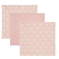 Afbeelding van Monddoekjes Lily Leaves Pink / Pure Pink