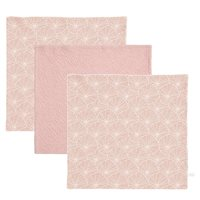 Picture of Facecloths Lily Leaves Pink / Pure Pink