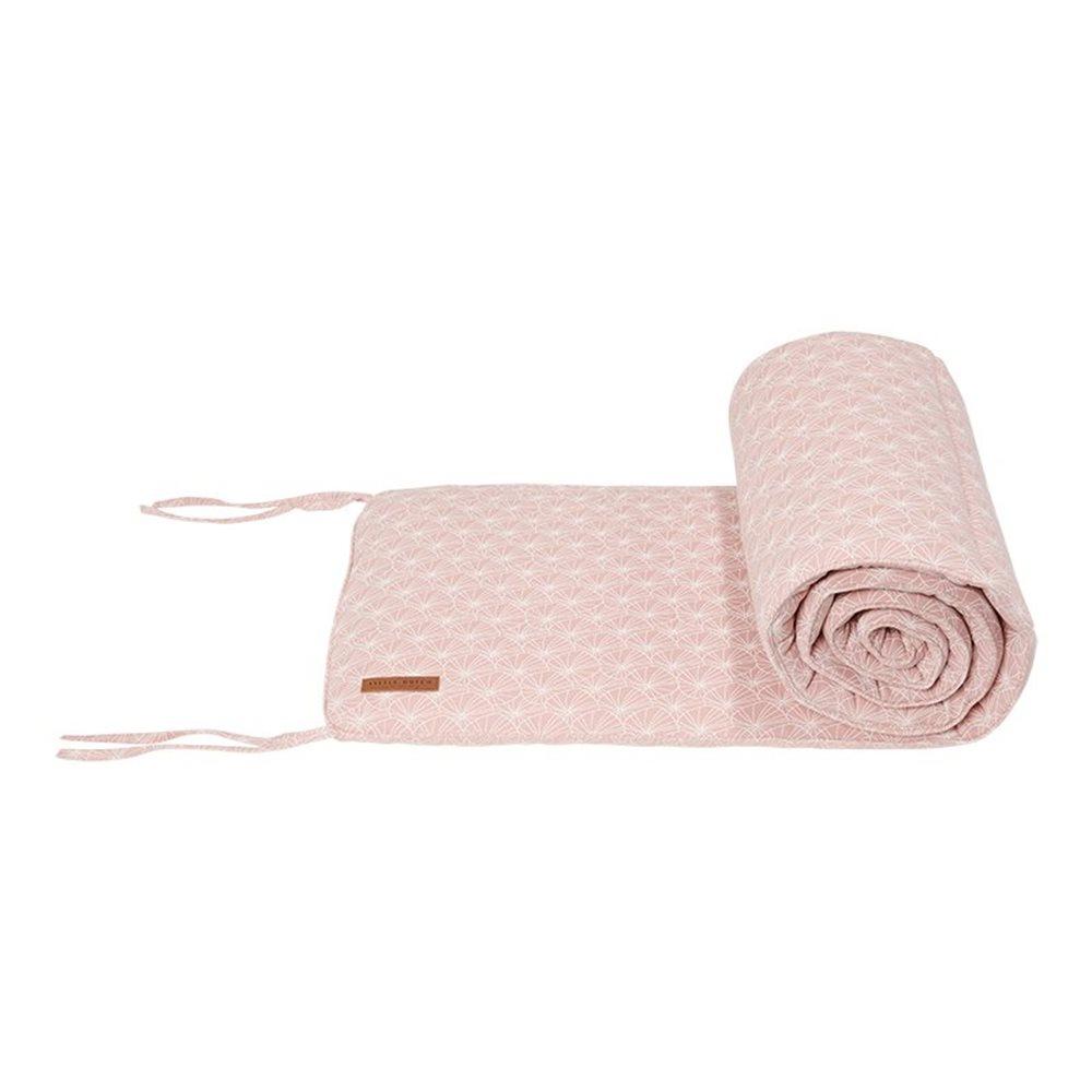 Tour de lit Lily Leaves Pink