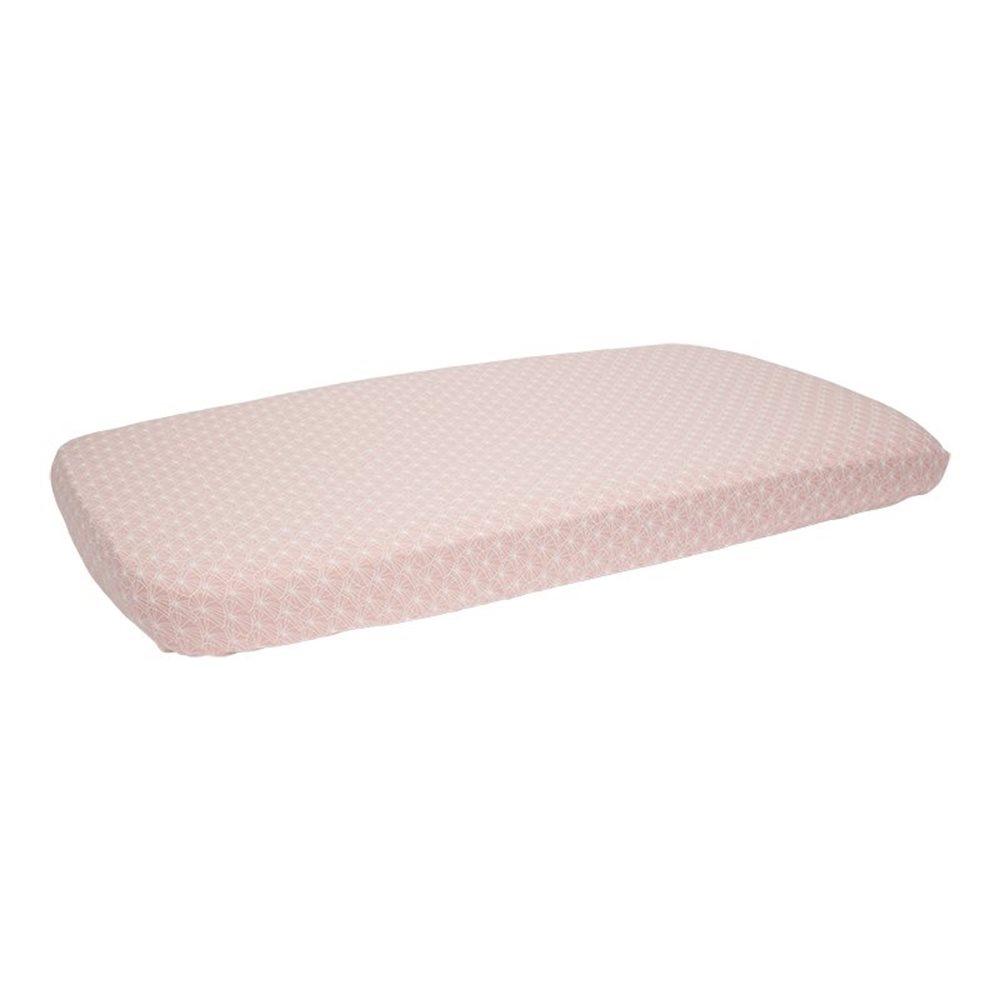 Spannbetttuch Kinderbett Lily Leaves Pink