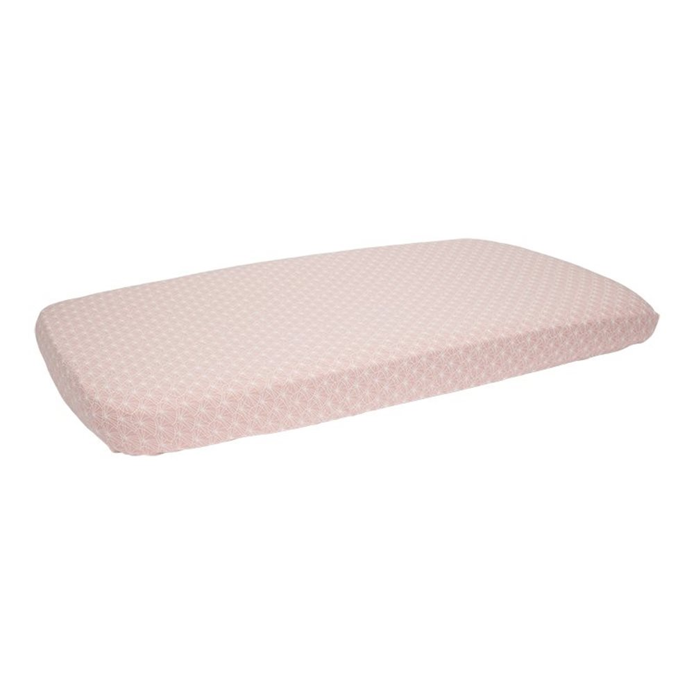 Picture of Fitted bassinet sheet Lily Leaves Pink