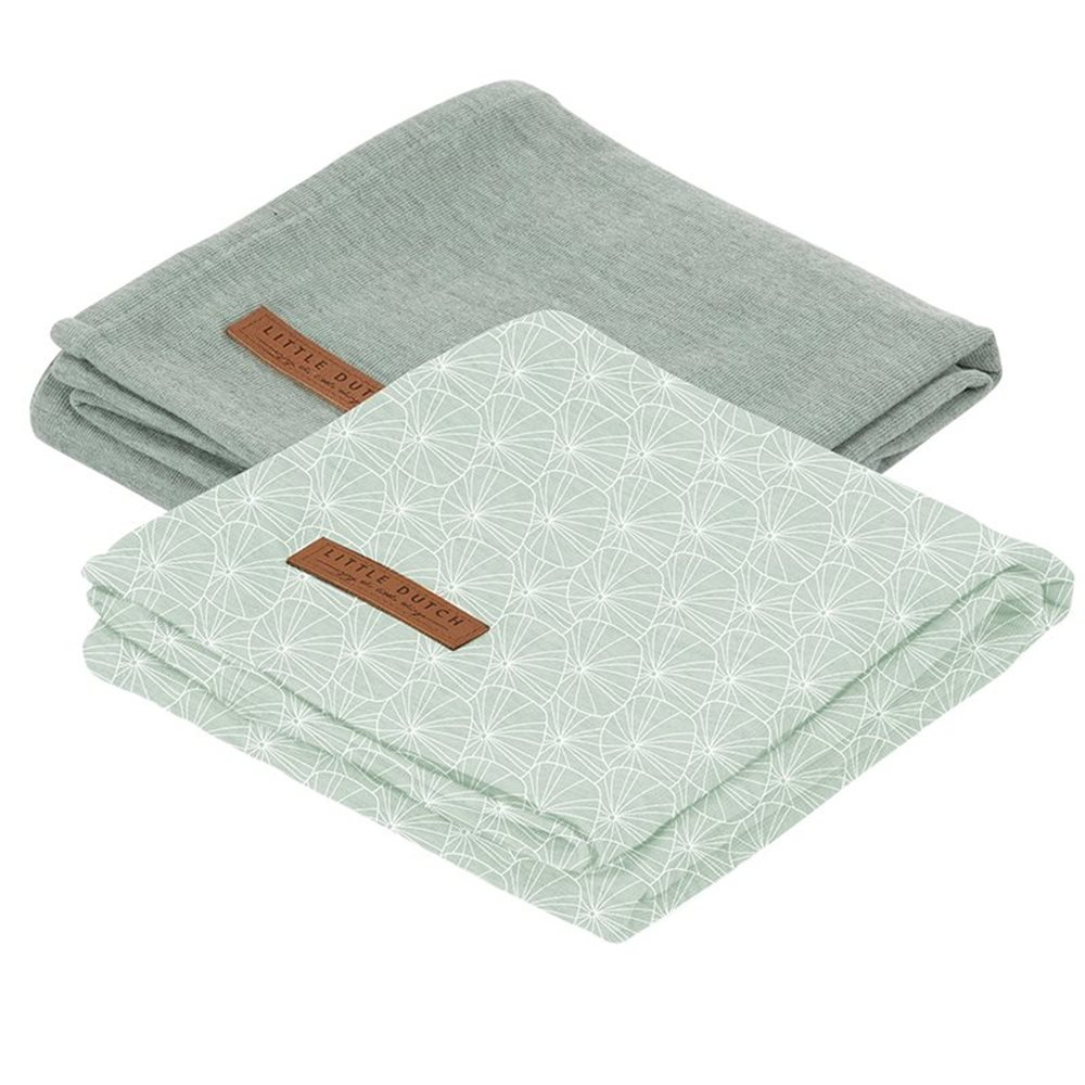 Picture of Swaddles 70 x 70 Lily Leaves Mint / Pure Mint
