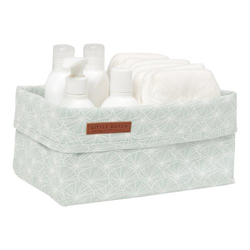 Panier de toilette grand Lily Leaves Mint