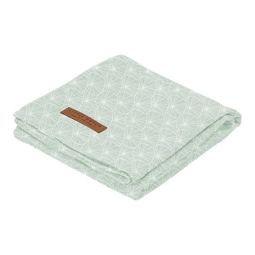 Musselintuch Swaddle 120 x 120 Lily Leaves Mint