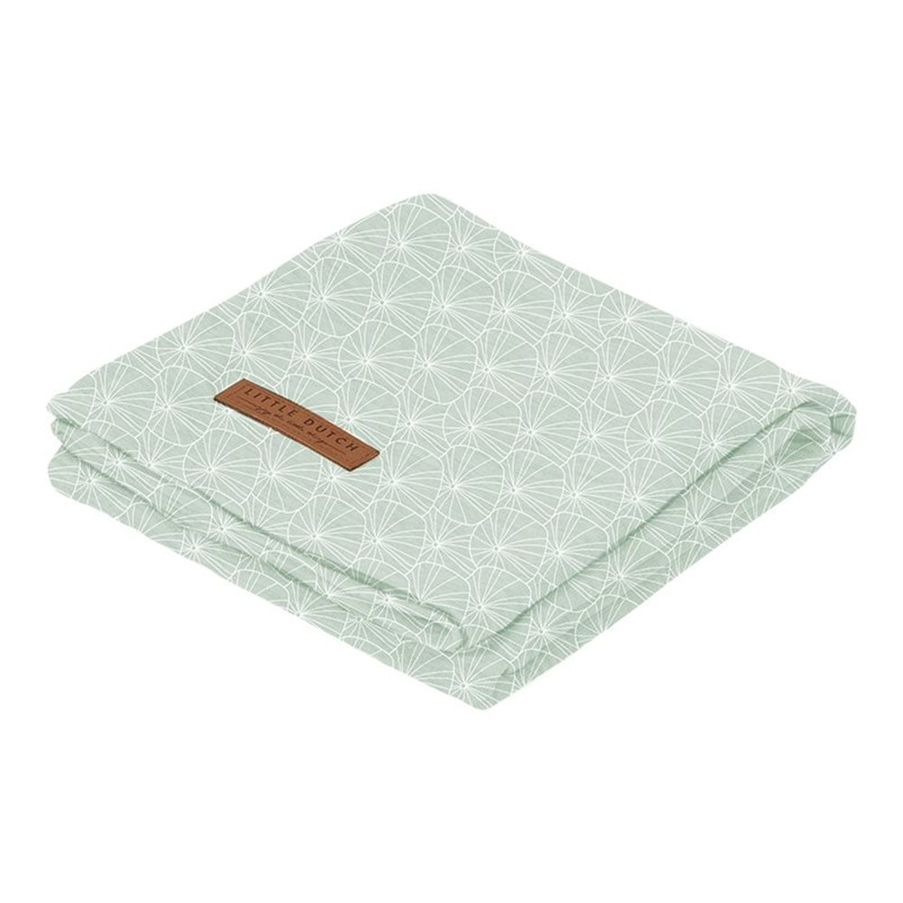 Picture of Swaddle 120 x 120 Lily Leaves Mint