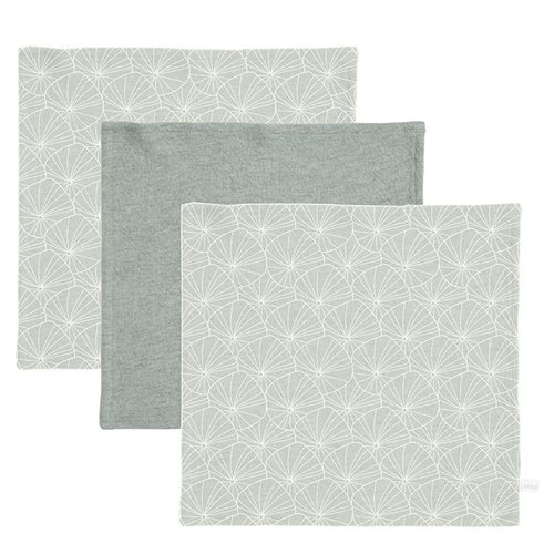 Picture of Facecloths Lily Leaves Mint / Pure Mint