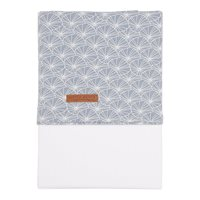 Picture of Bassinet sheet Lily Leaves Blue