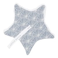 Doudou attache-sucette Lily Leaves Blue