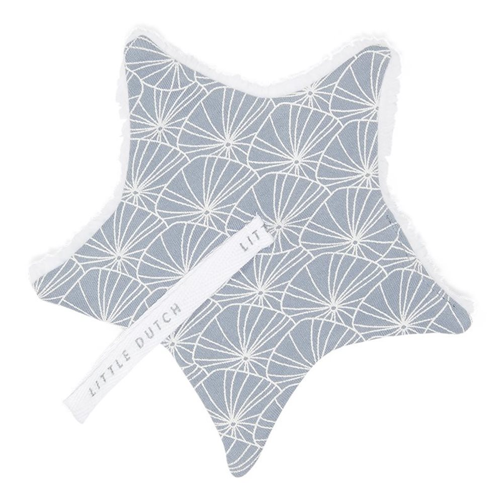 Picture of Pacifier cloth Lily Leaves Blue