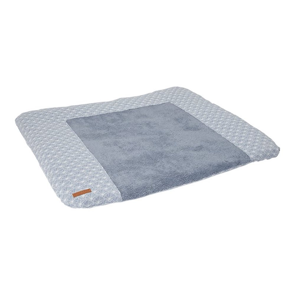 Picture of Changing mat cover Germany Lily Leaves Blue