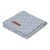 Musselintuch Swaddle 120 x 120 Lily Leaves Blue