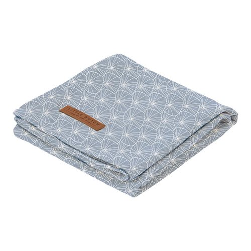 Afbeelding van Swaddle doek 120 x 120 Lily Leaves Blue