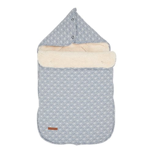 Picture of Car seat 0+ footmuff Lily Leaves Blue
