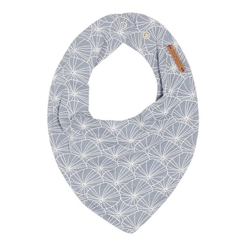 Picture of Bandana bib Lily Leaves Blue