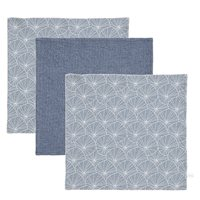 Picture of Facecloths Lily Leaves Blue / Pure Blue