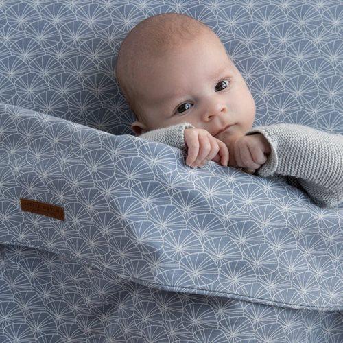 Drap-housse lit bébé Lily Leaves Blue