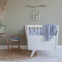 Couverture de lit bébé Lily Leaves Blue