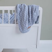 Picture of Bassinet blanket Lily Leaves Blue