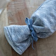 Picture of Hot-water bottle cover Lily Leaves Blue